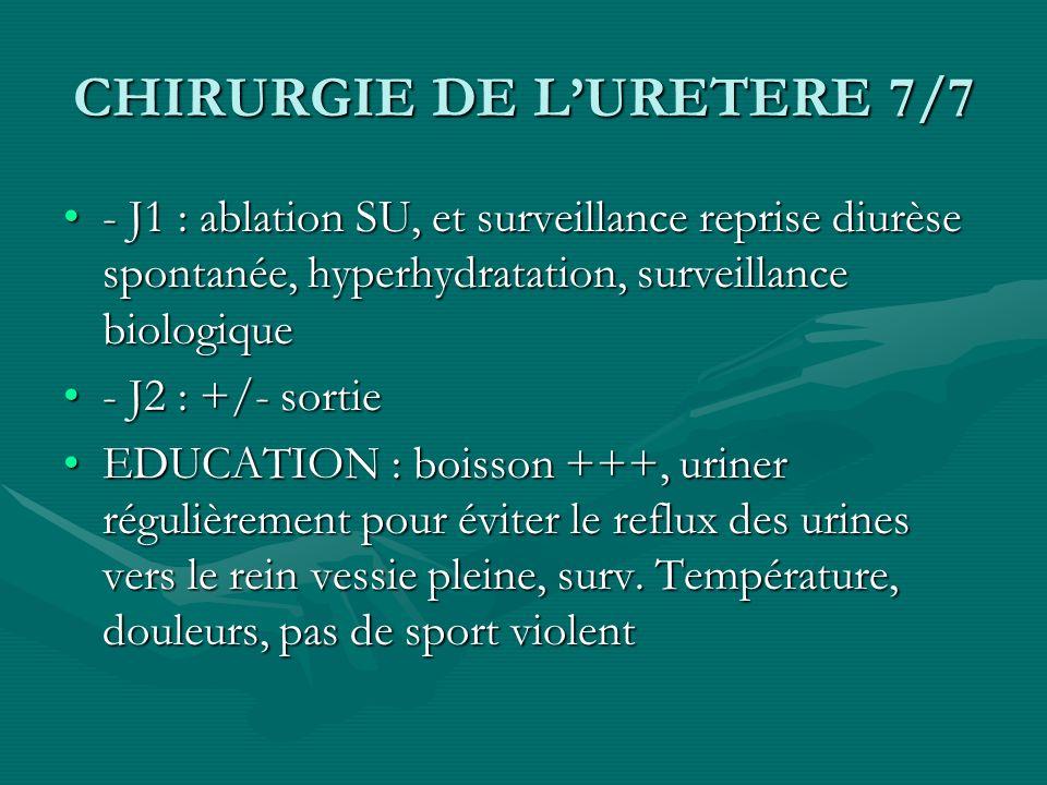 CHIRURGIE DE L'URETERE 7/7