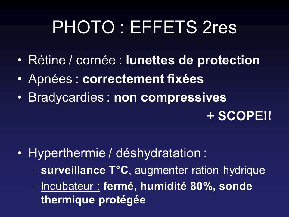 PHOTO : EFFETS 2res Rétine / cornée : lunettes de protection
