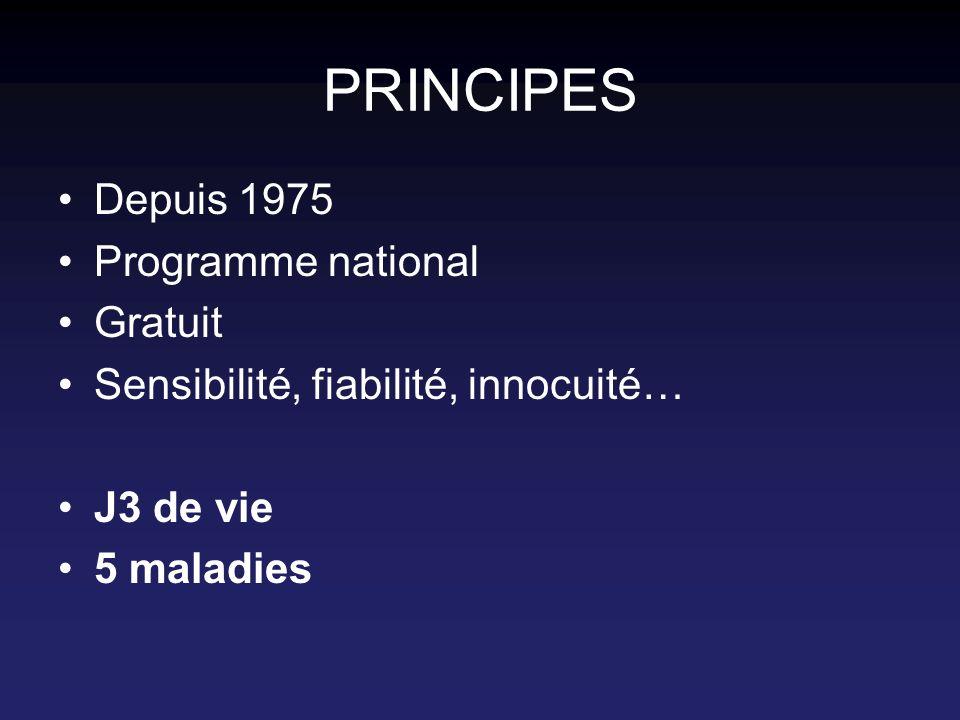 PRINCIPES Depuis 1975 Programme national Gratuit