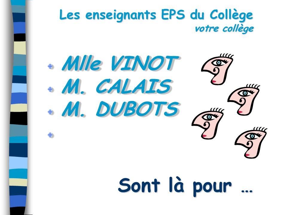 Les enseignants EPS du Collège votre collège