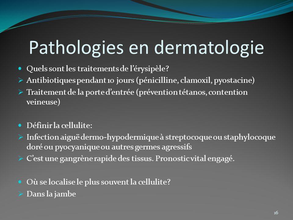 Pathologies en dermatologie