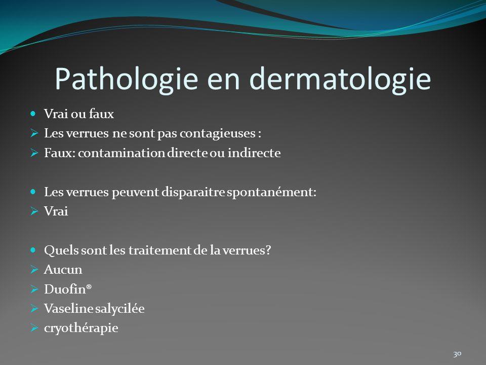 Pathologie en dermatologie