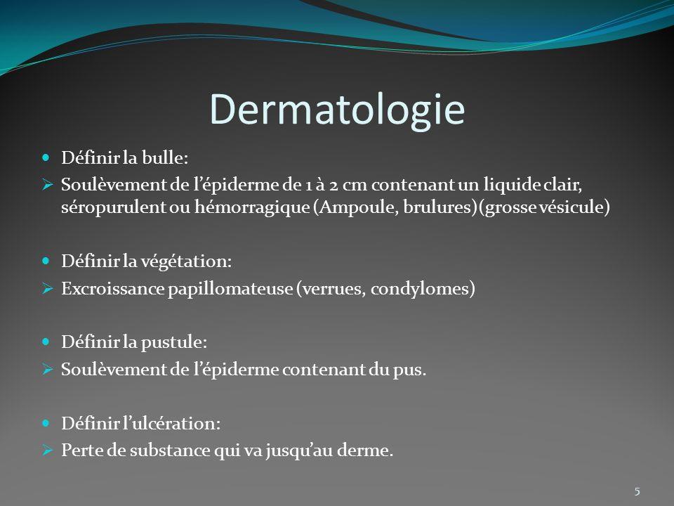 Dermatologie Définir la bulle: