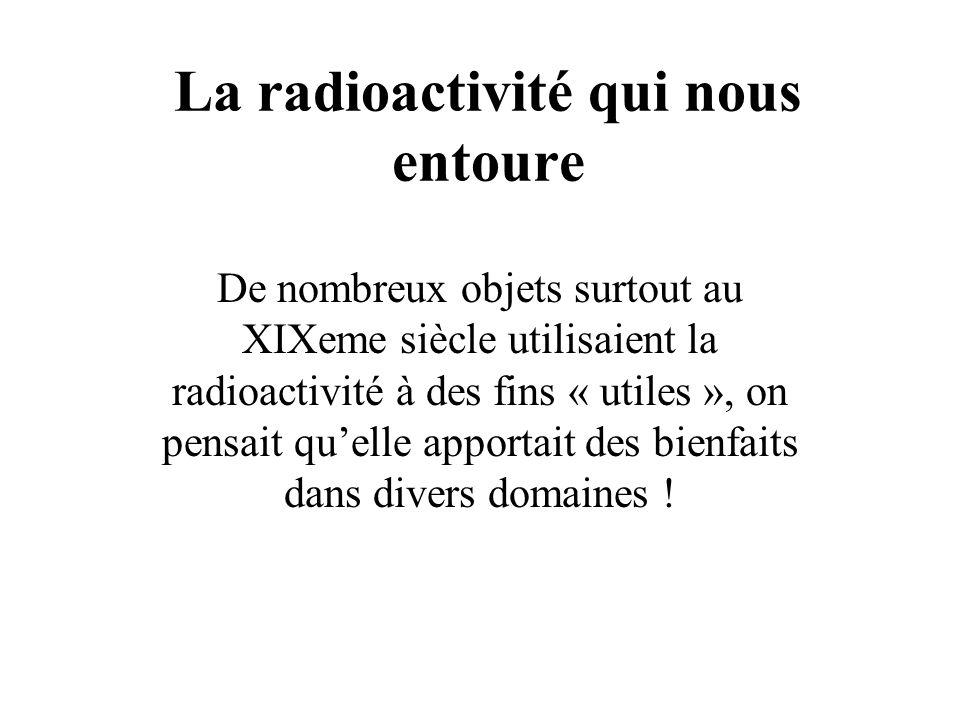 La radioactivité qui nous entoure