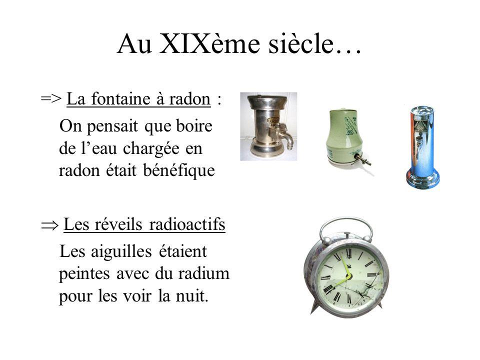 Au XIXème siècle… => La fontaine à radon :