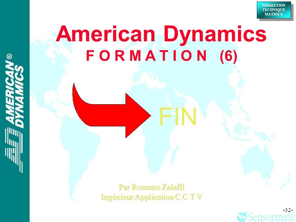 American Dynamics F O R M A T I O N (6)