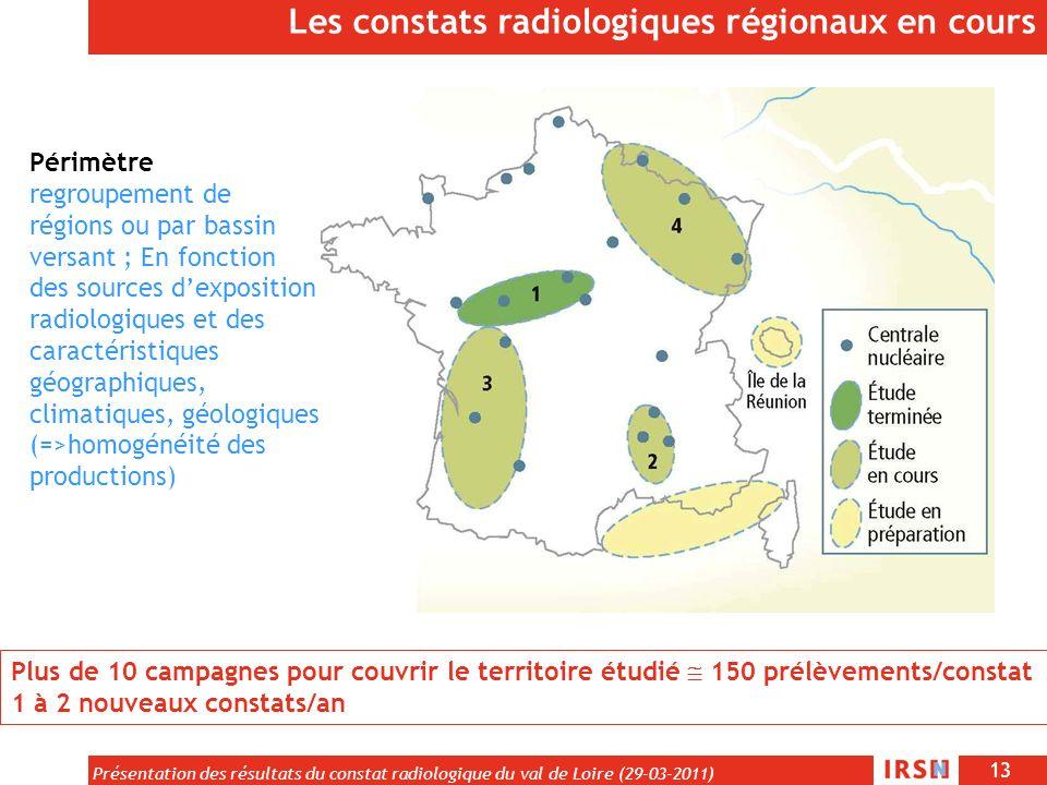 Les constats radiologiques régionaux en cours