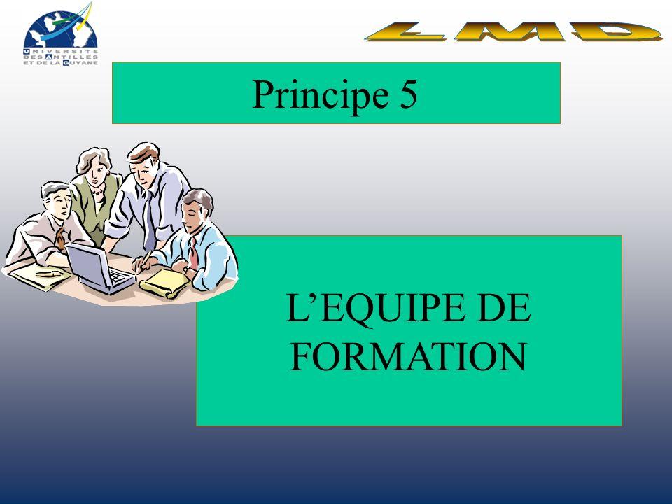 Principe 5 L'EQUIPE DE FORMATION LMD