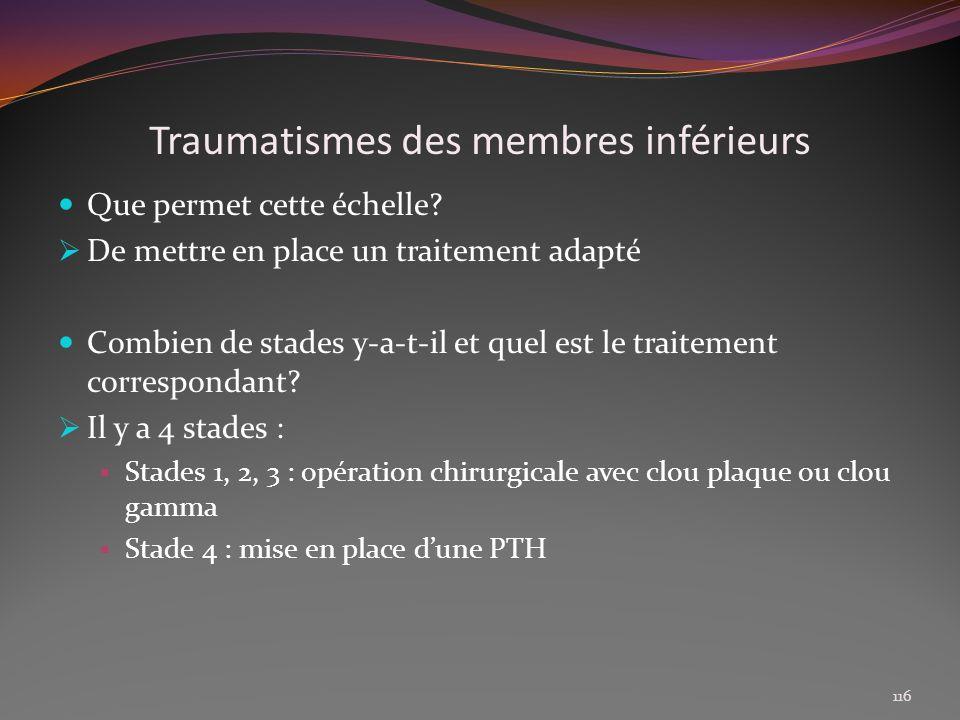 Traumatismes des membres inférieurs