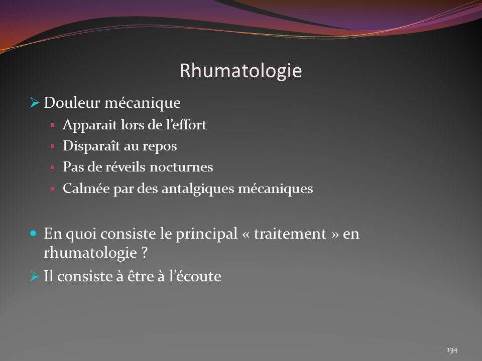 Rhumatologie Douleur mécanique