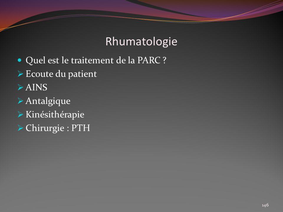 Rhumatologie Quel est le traitement de la PARC Ecoute du patient
