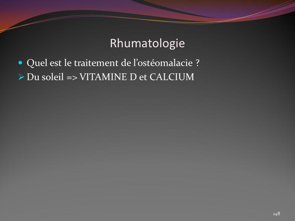 Rhumatologie Quel est le traitement de l'ostéomalacie