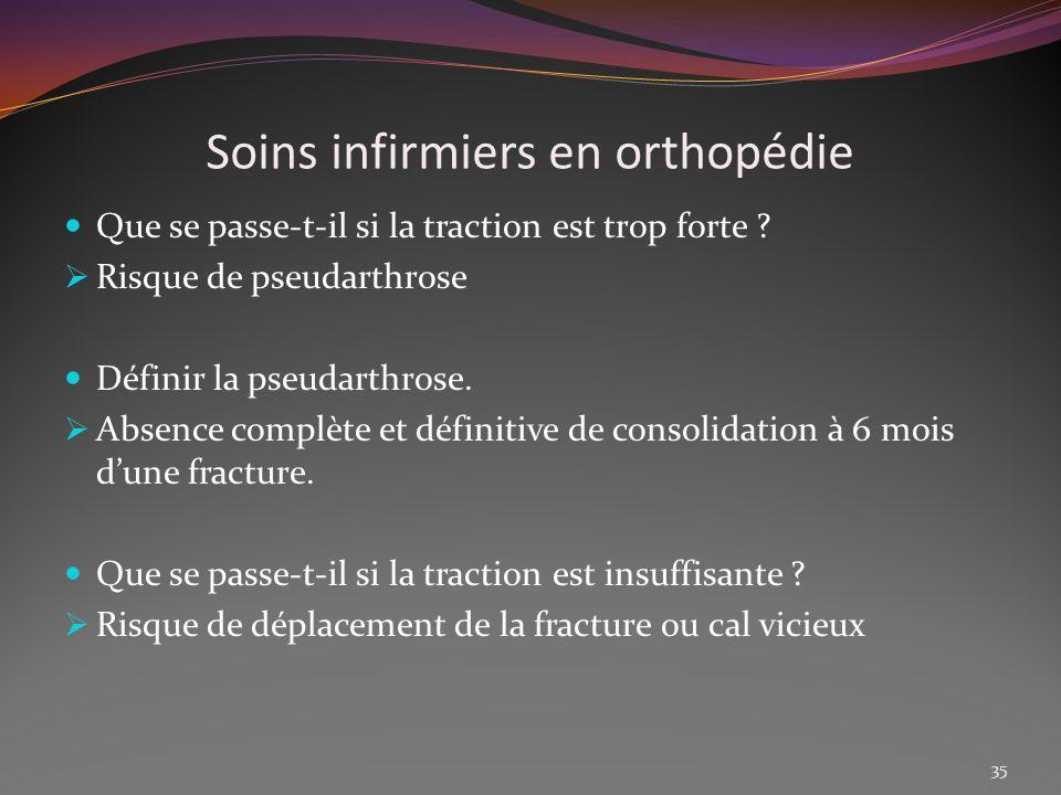 Soins infirmiers en orthopédie