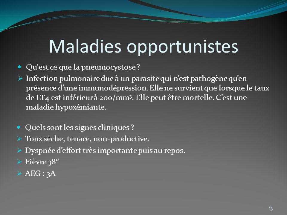 Maladies opportunistes