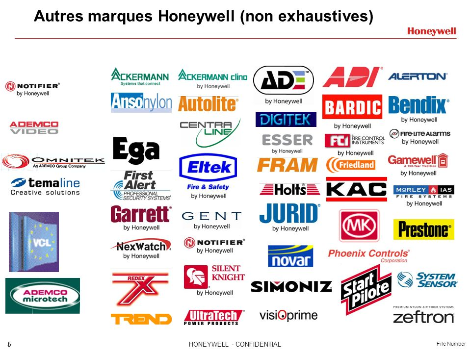 Autres marques Honeywell (non exhaustives)