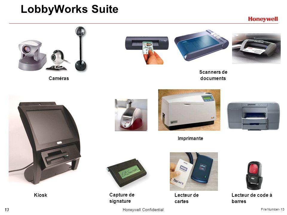 LobbyWorks Suite Caméras Scanners de documents Imprimante Kiosk