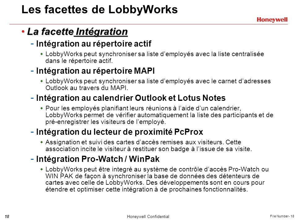 Les facettes de LobbyWorks