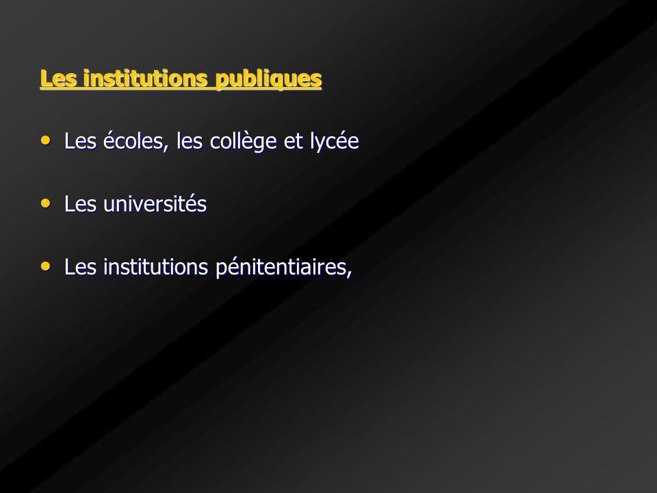 Les institutions publiques