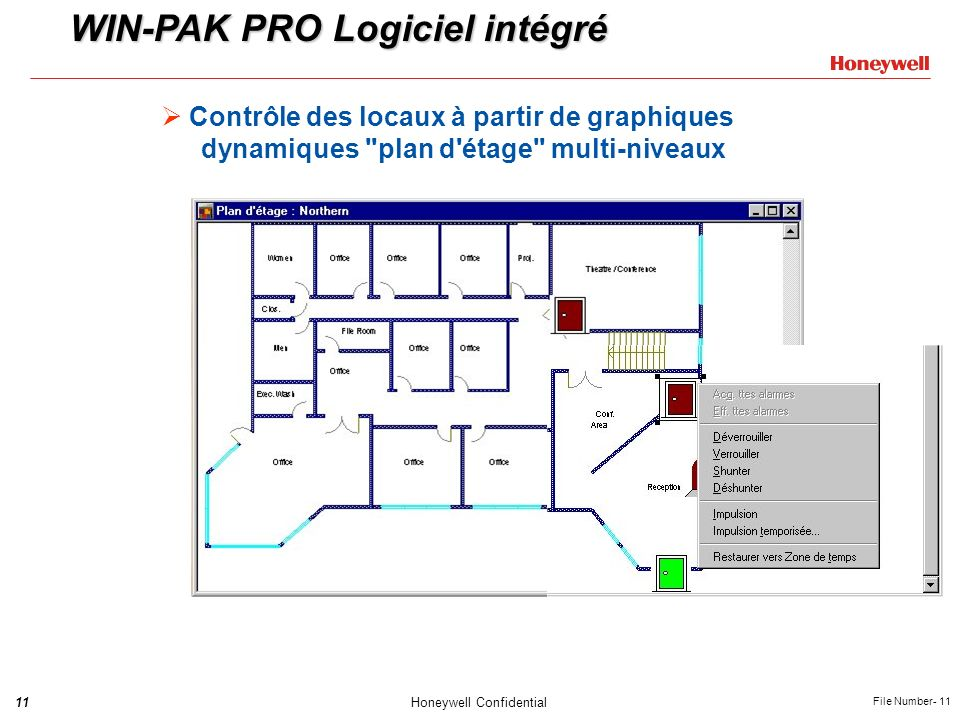 WIN-PAK PRO Logiciel intégré