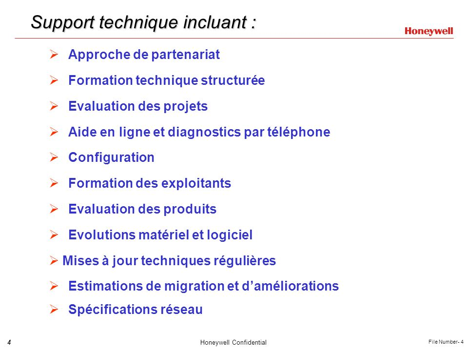 Support technique incluant :