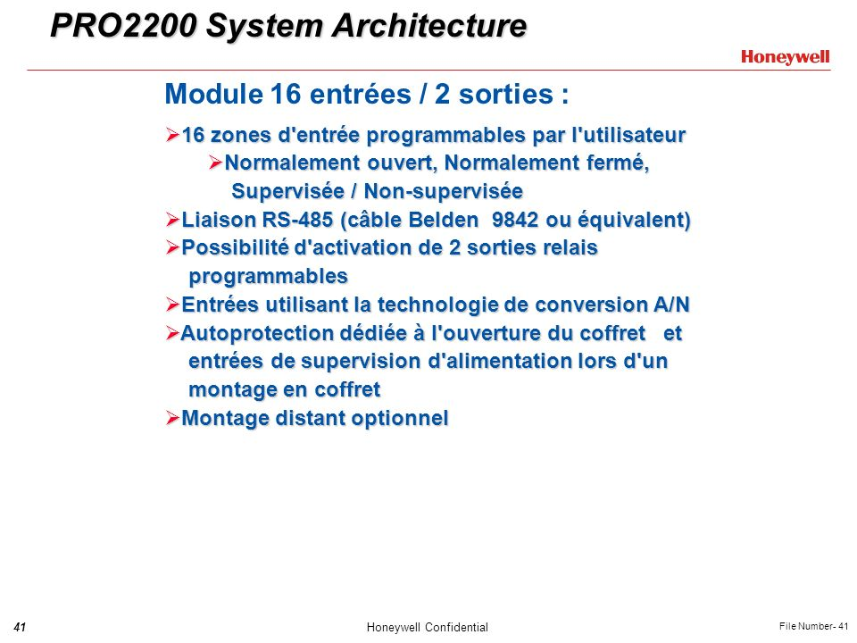 PRO2200 System Architecture