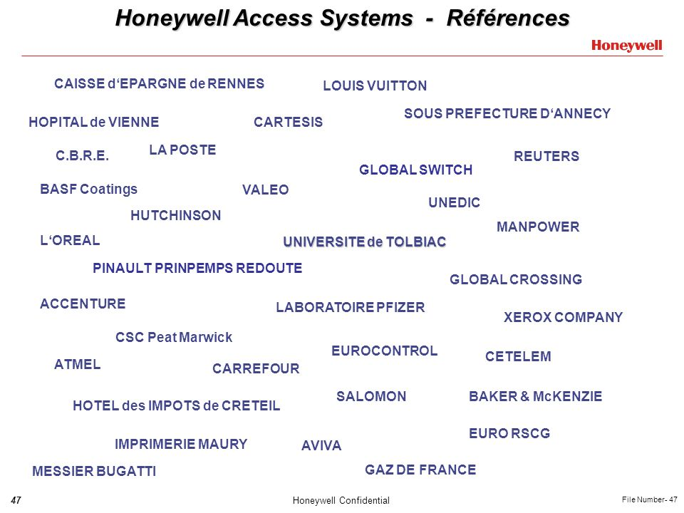 Honeywell Access Systems - Références