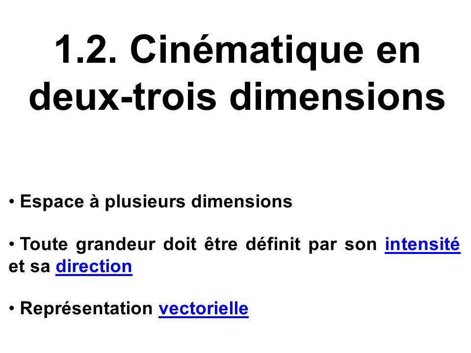 1.2. Cinématique en deux-trois dimensions