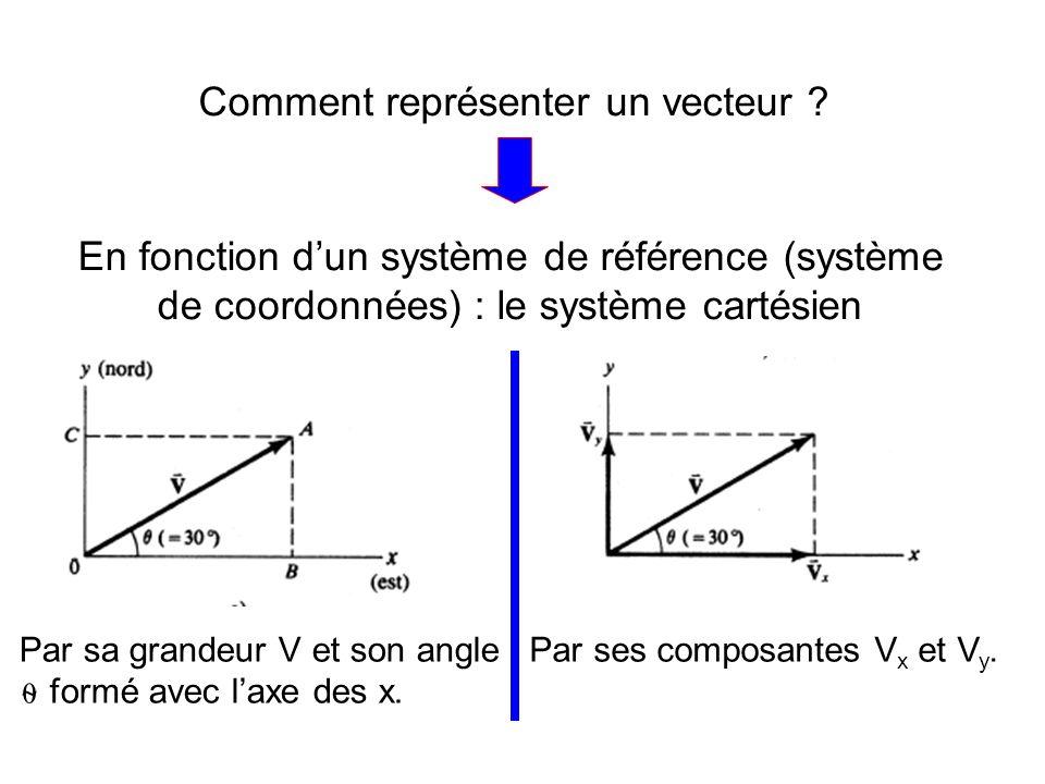 Comment représenter un vecteur