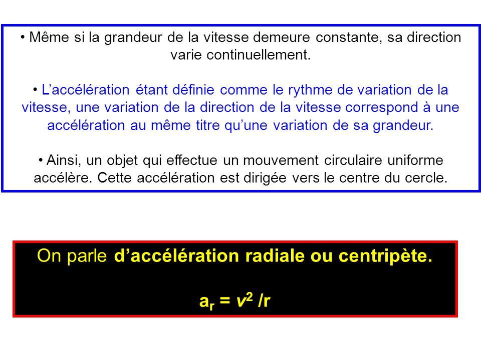 On parle d'accélération radiale ou centripète.