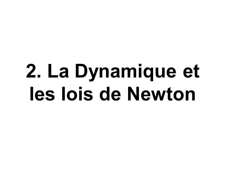 2. La Dynamique et les lois de Newton