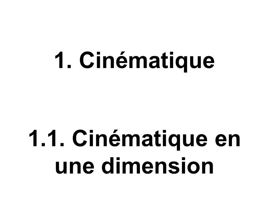 1.1. Cinématique en une dimension