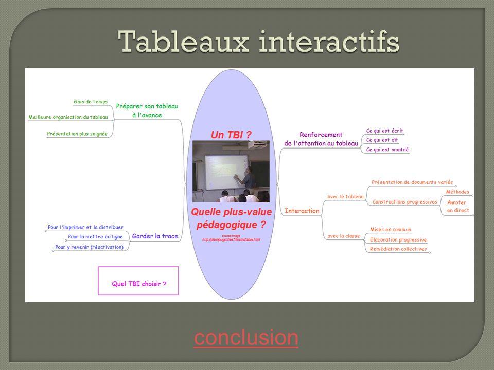 Tableaux interactifs conclusion