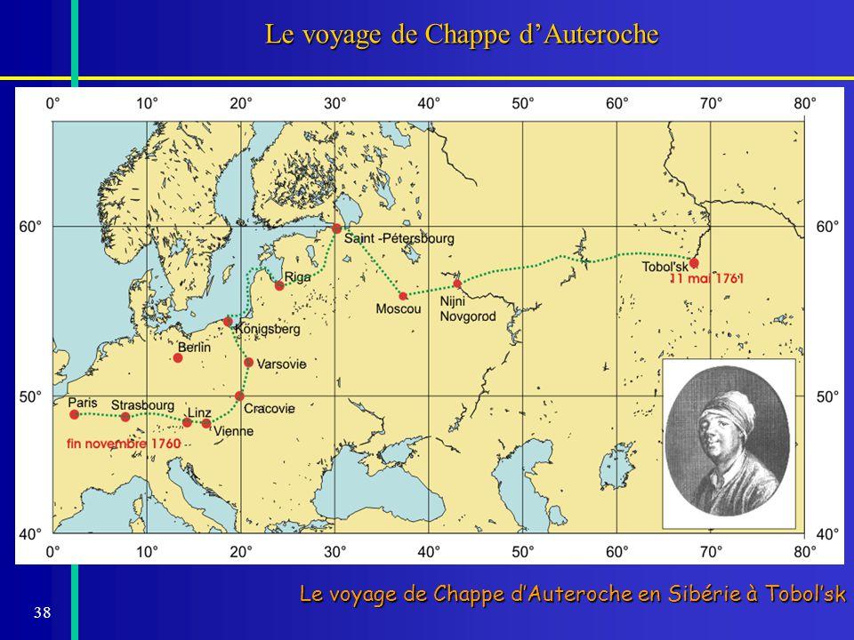 Le voyage de Chappe d'Auteroche