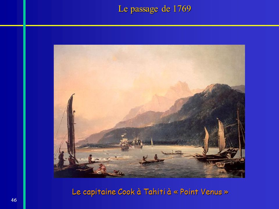 Le passage de 1769 Le capitaine Cook à Tahiti à « Point Venus »