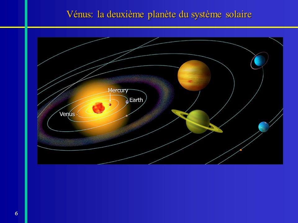 Vénus: la deuxième planète du système solaire