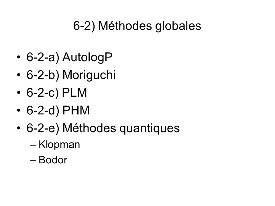 6-2-e) Méthodes quantiques