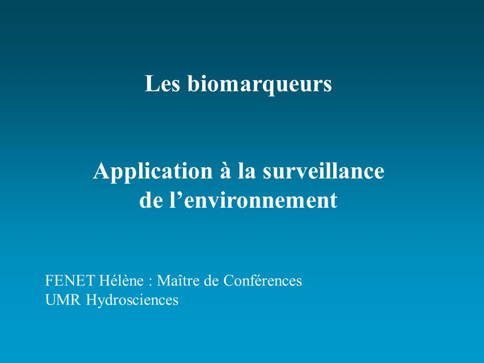 Application à la surveillance