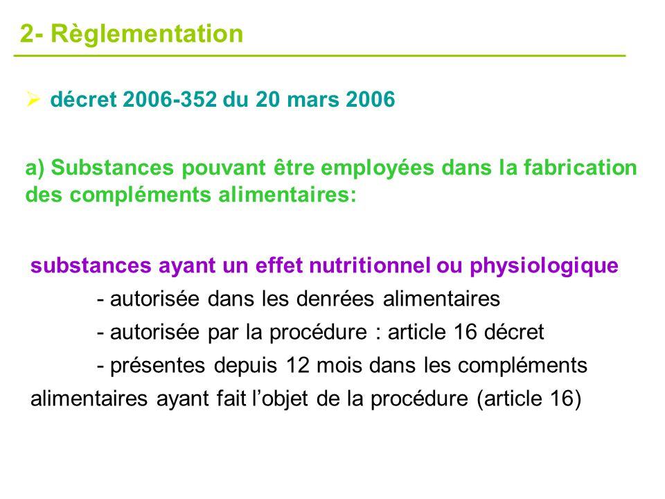 2- Règlementation décret 2006-352 du 20 mars 2006