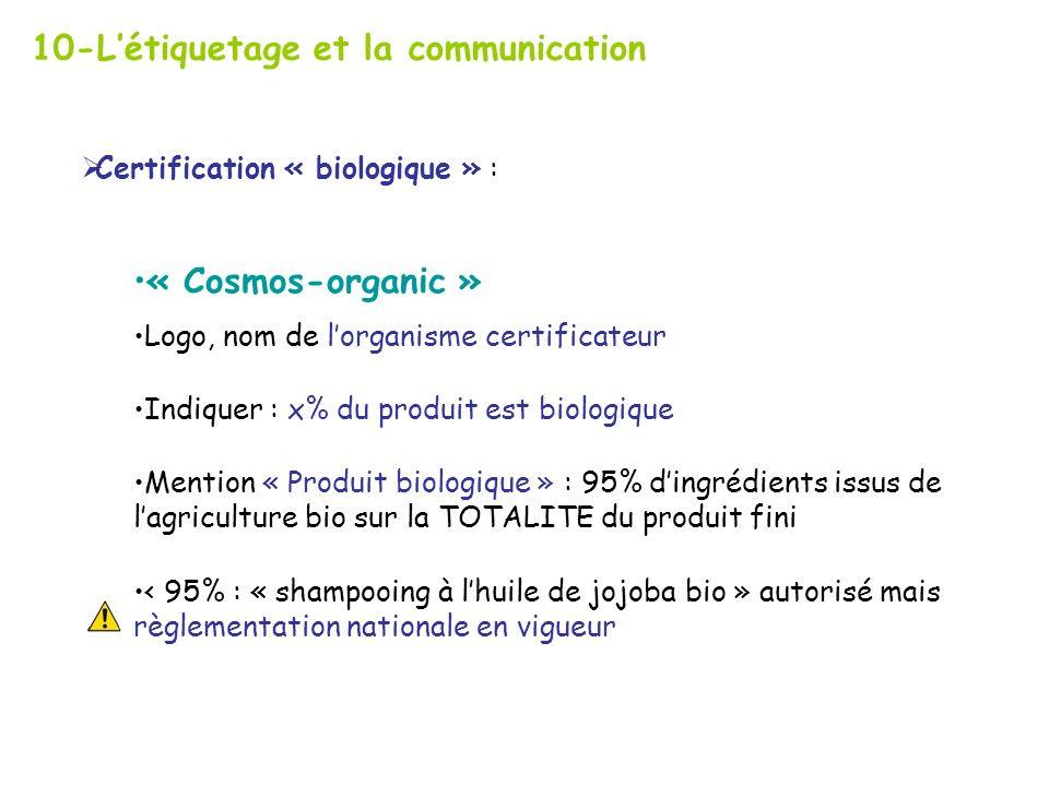 10-L'étiquetage et la communication