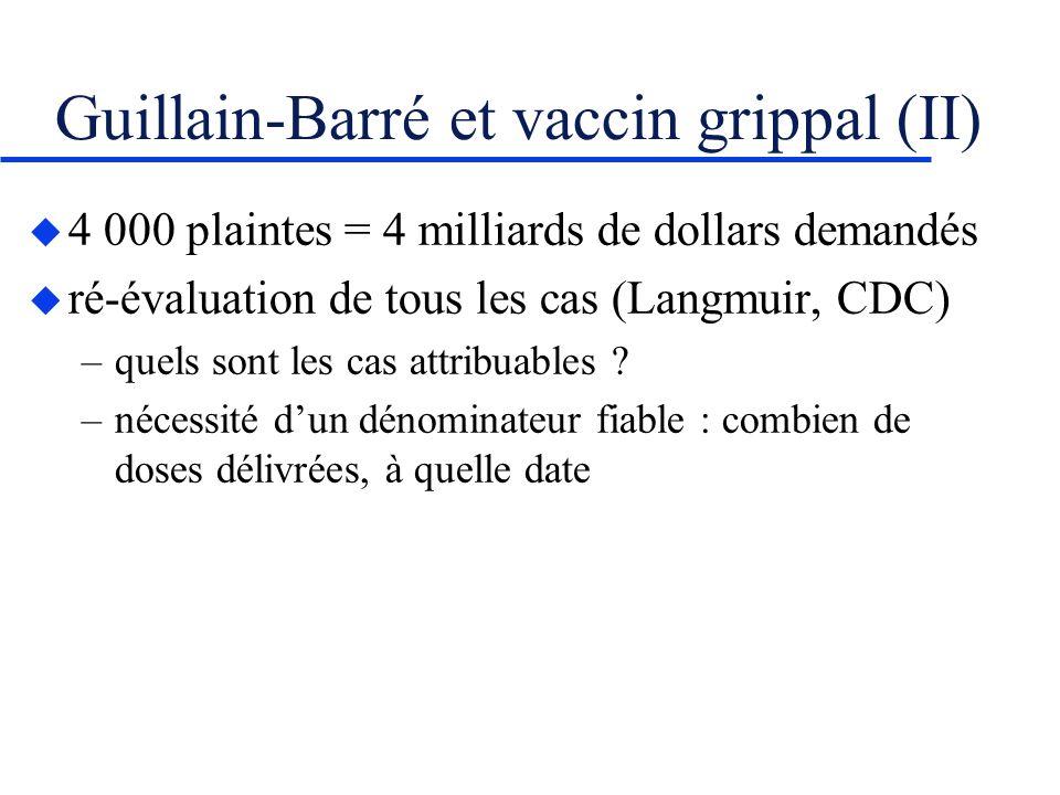 Guillain-Barré et vaccin grippal (II)