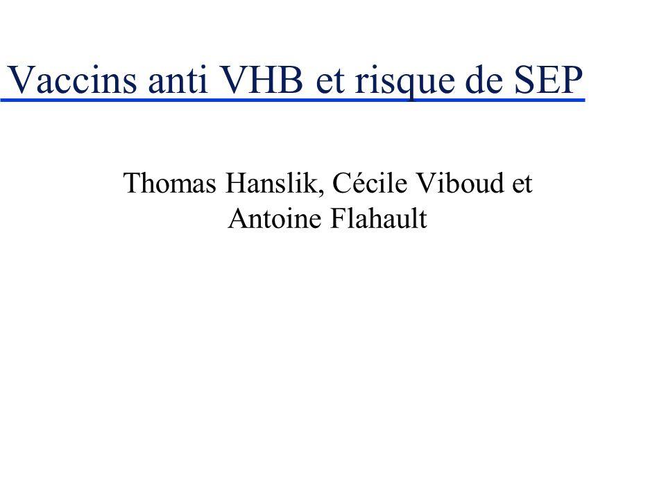Vaccins anti VHB et risque de SEP