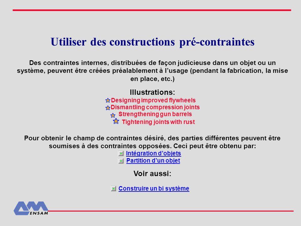 Utiliser des constructions pré-contraintes