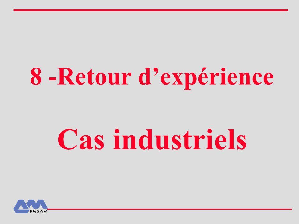 8 -Retour d'expérience Cas industriels
