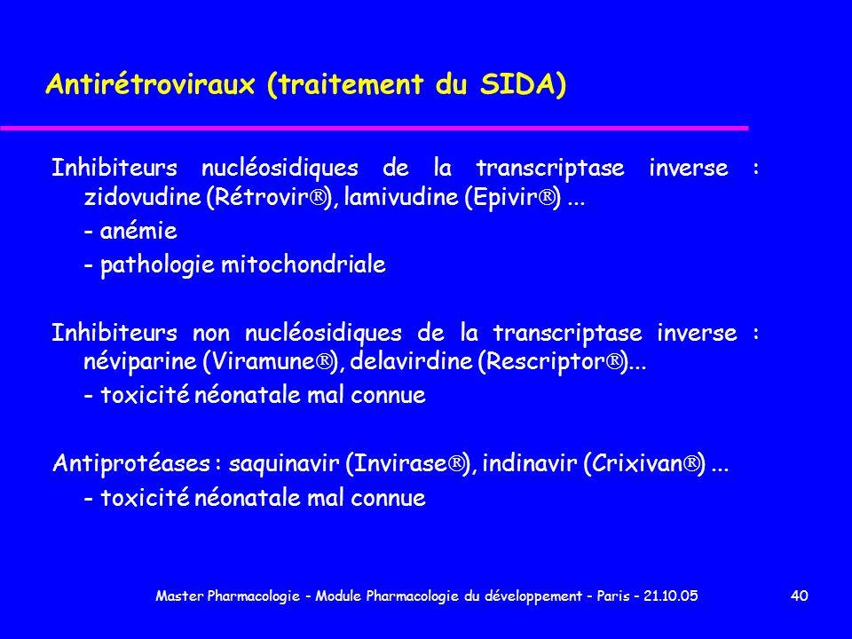 Antirétroviraux (traitement du SIDA)