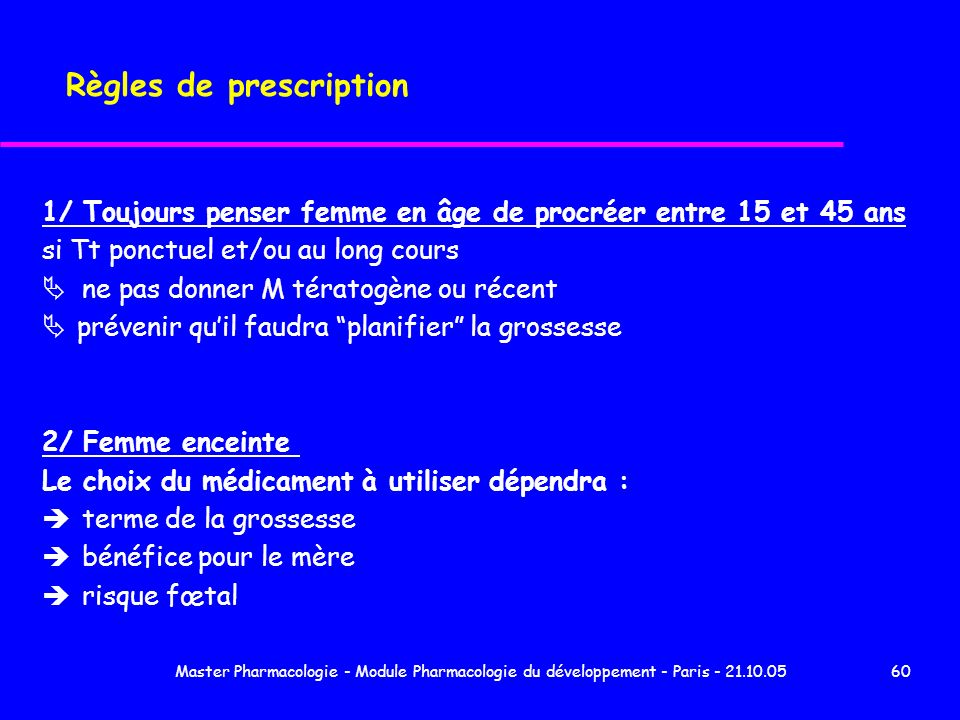 Règles de prescription