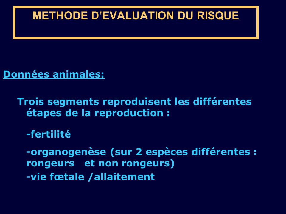 METHODE D'EVALUATION DU RISQUE