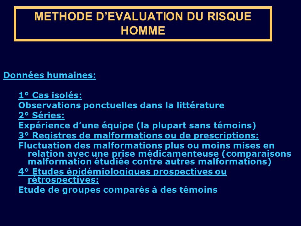 METHODE D'EVALUATION DU RISQUE HOMME
