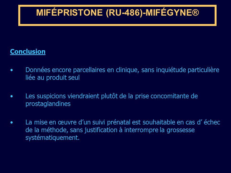 MIFÉPRISTONE (RU-486)-MIFÉGYNE®