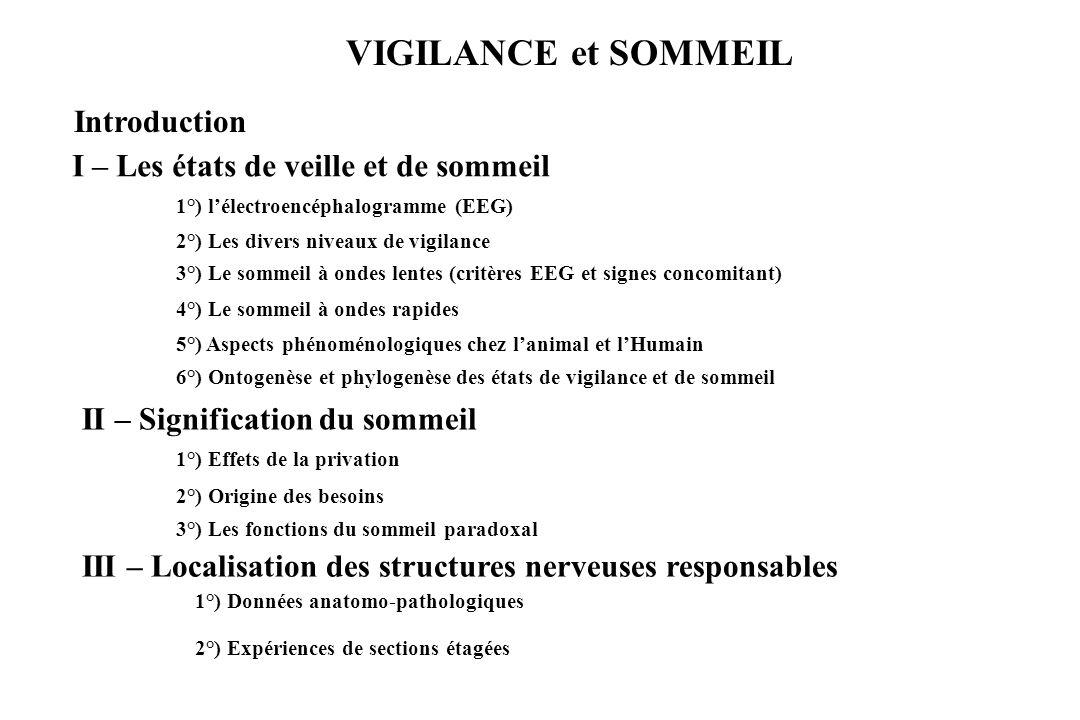 VIGILANCE et SOMMEIL Introduction