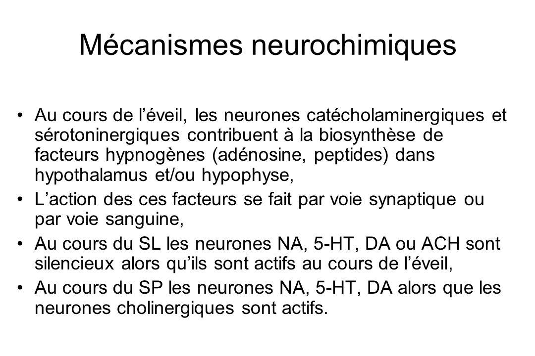 Mécanismes neurochimiques
